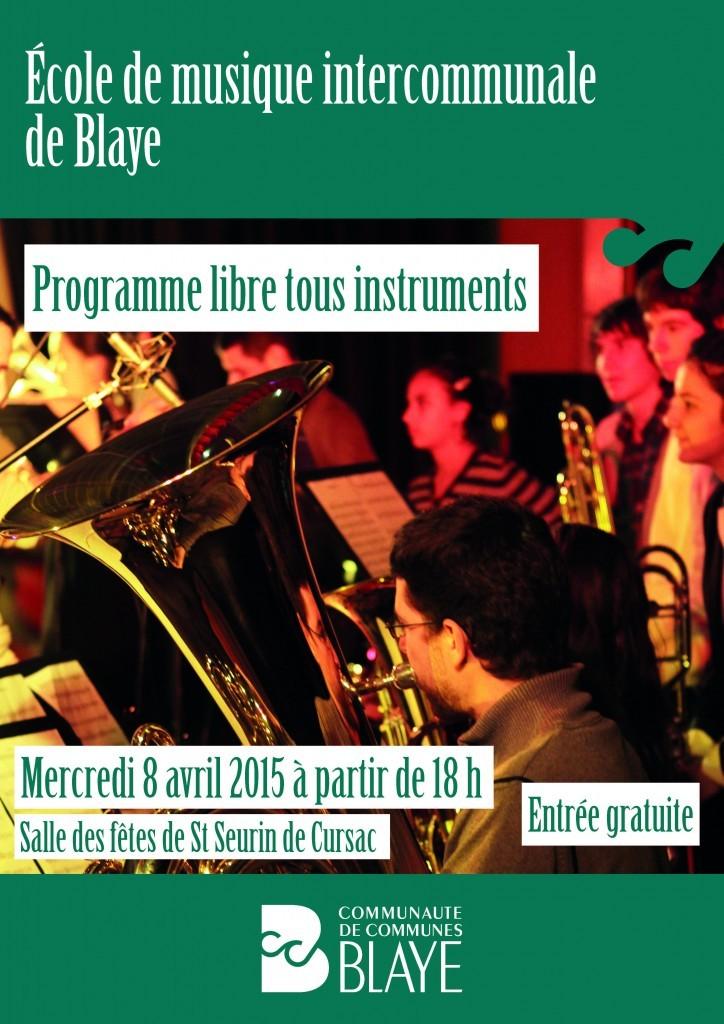15 03 30 Programme libre tous instruments