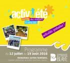 Activ'été - programme 2016