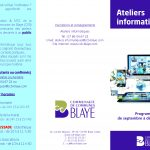 Ateliers informatiques - programme septembre à décembre 2016