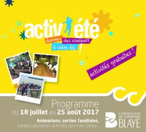 Activ'été - Programme 2017