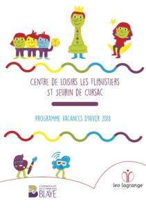 Les Flibustiers - Programme des vacances d'hiver