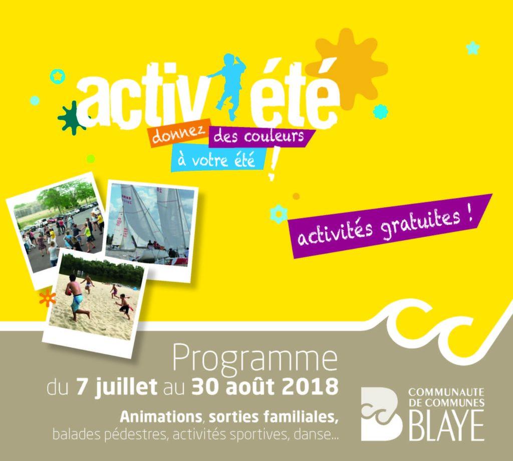 Activ'été 8e édition : active saison d'animations estivales