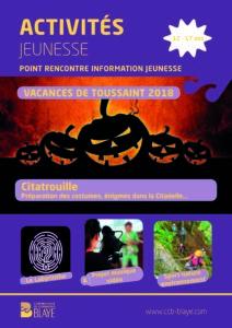 PRIJ - programme vacances Toussaint 2018