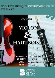 15 04 01 affiche A3 concert violon & hautbois