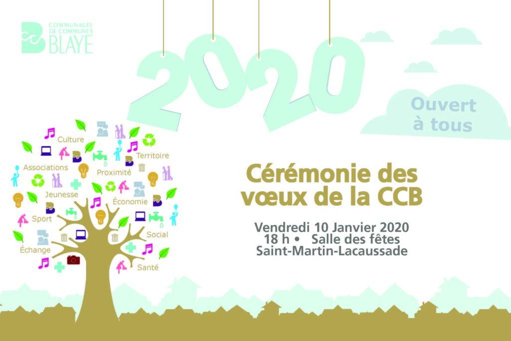 Rendez-vous le 10 janvier 2020 pour les vœux de la CCB à la population !