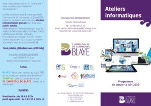 Ateliers informatiques - Programme janvier - juin 2020