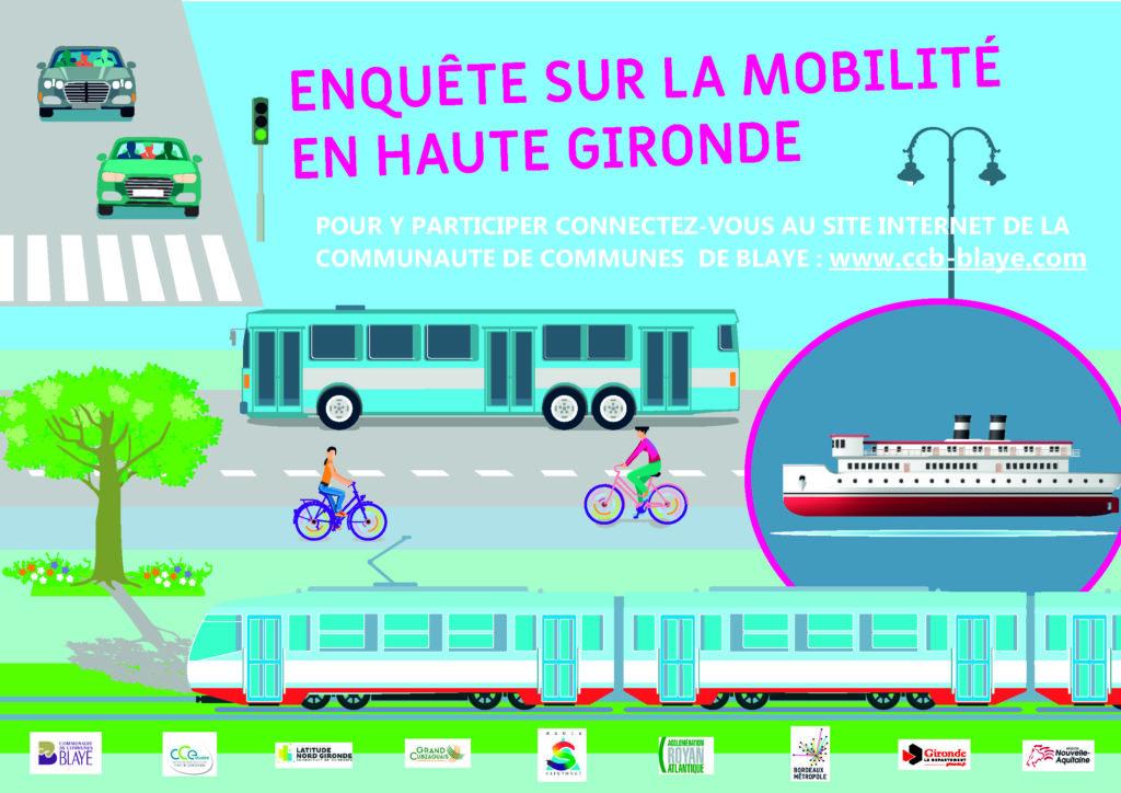 Enquête mobilité sur la Haute-Gironde