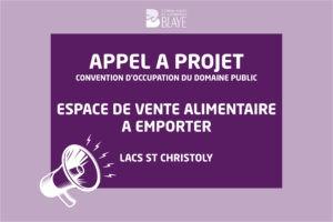 Snack aux lacs de St Christoly – Appel à projet pour la saison 2021